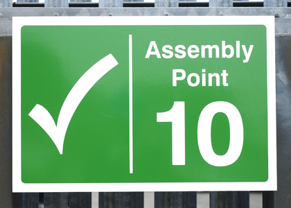Numbered Assembly Point Signs