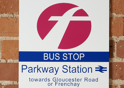 Bus Stop Information Sign