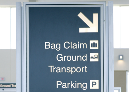 Directional Airport Wayfinding Signs