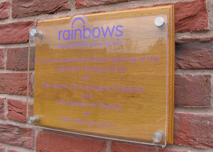 Rainbows Opening Acrylic Plaque