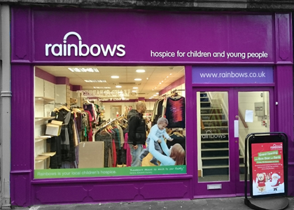 Rainbows Beeston Shop Graphics