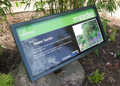 Rainbows Eco Garden Sign