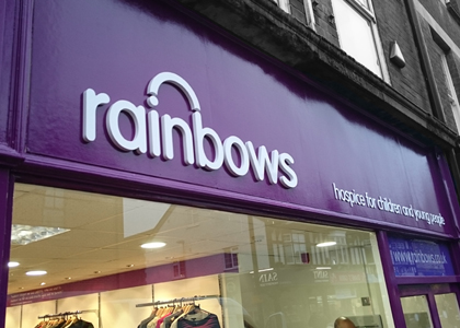 Rainbows Flat Cut Shop Lettering