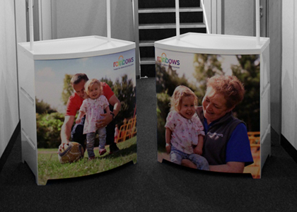Rainbows Promotional Stands