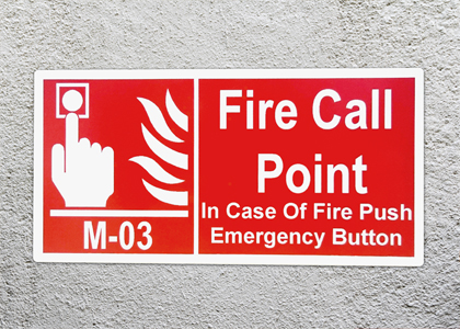 Fire Call Point Location Number Label