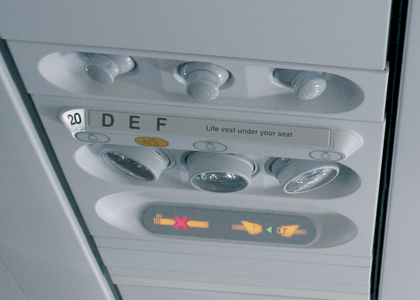 Aviation Aircraft Interior Seat Number Labels