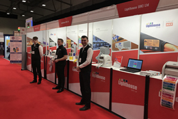 Sales Team manning the Exhibition Stand