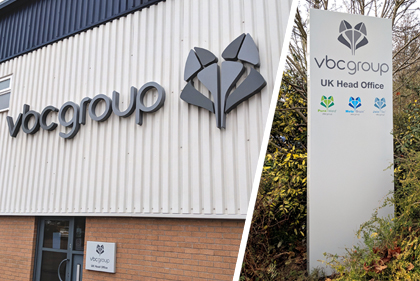VBC Group Built Up Lettering, Sign Tray and Monolith Signs